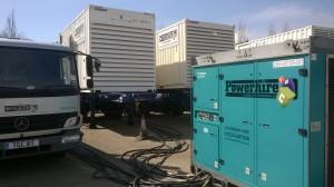 commissioning temporary generators