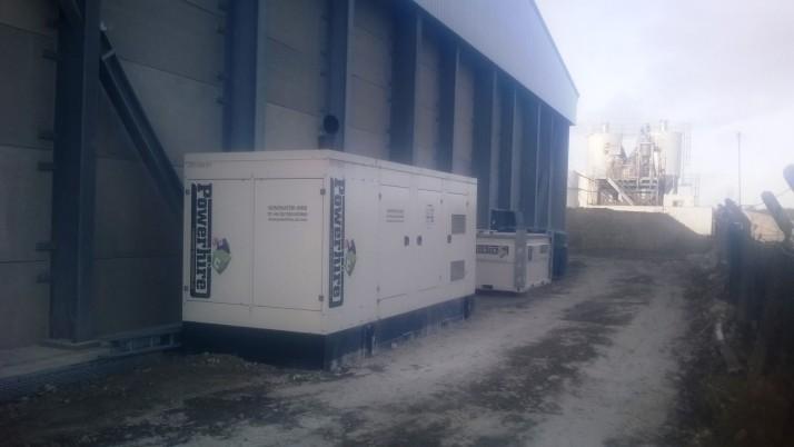 Temporary Generator Power for UK Concrete Company