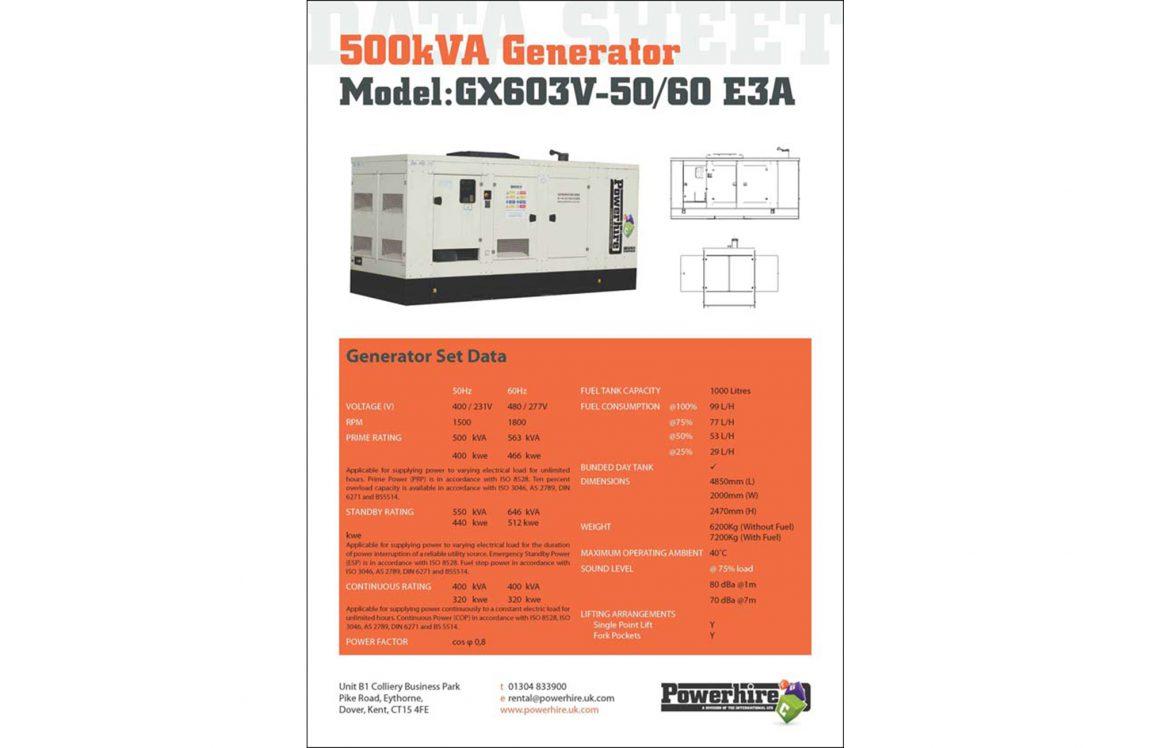 500kVA Generator [Volvo]